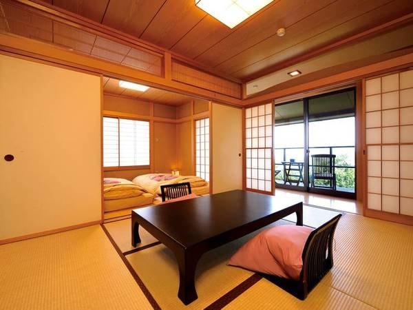 【温泉半露天風呂付き客室/和室二間/例】