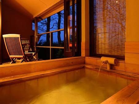 【客室露天風呂/例】温泉半露天風呂付き客室/和室二間