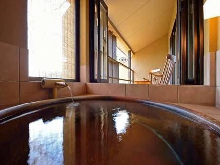 【客室露天風呂/例】露天風呂付き客室/和洋室(ダブル)