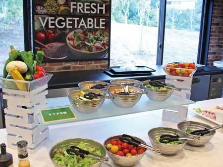 【夕食バイキング】新鮮野菜のサラダバーも人気/例