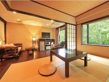 【ガーデン館50㎡和洋室ツイン】フロント棟にも近い2ベッド+和室/例