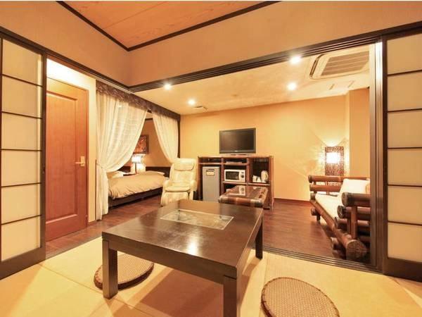 【ガーデン館50㎡和洋室ダブル】ダブルベッド1台+8畳和室/例