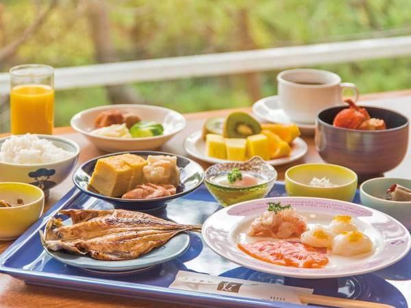 【朝食/例】地元産食材満載!約40種の和洋バイキング
