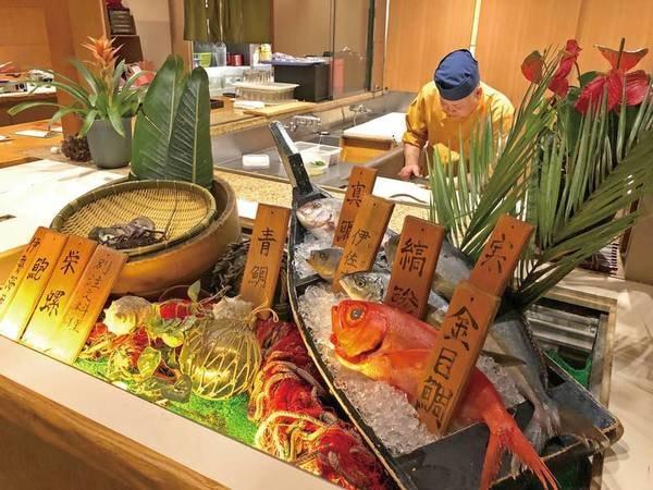 【夕食/例】新鮮な旬のお魚を選んでいただき、お造り盛りに!
