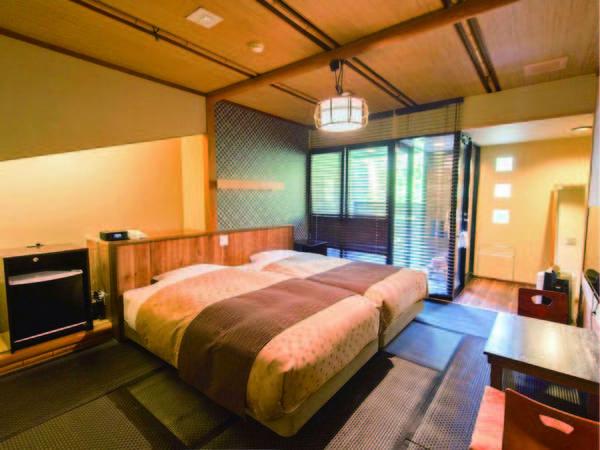 【露天風呂付ツイン/例】リニューアルされた客室が自慢。