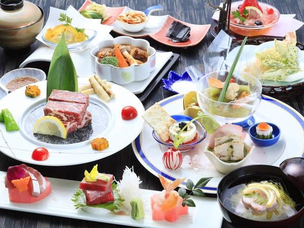 【夕食/例】旬の食材を使用した五感で愉しむ『スタンダード会席~風Kaze~』をご用意