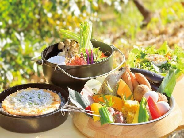 【夕食/例】グリルをメインとしたBBQ料理