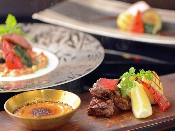 【和食の名門なだ万で修業した立石料理長による新日本料理/例】