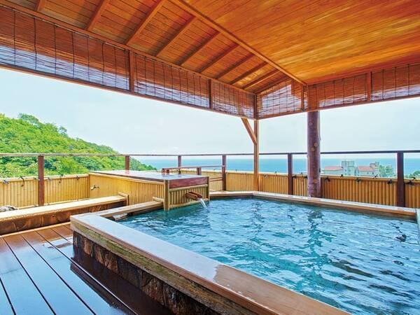 【展望露天風呂/海色】空と海を間近に感じる大浴場