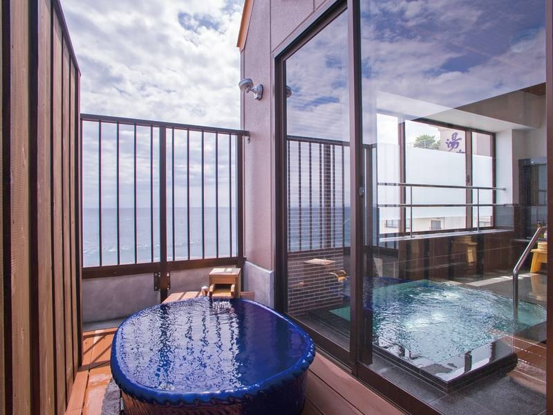 【有料貸切露天風呂/ゆるるか】目の前に海が広がる(1,080円/40分)