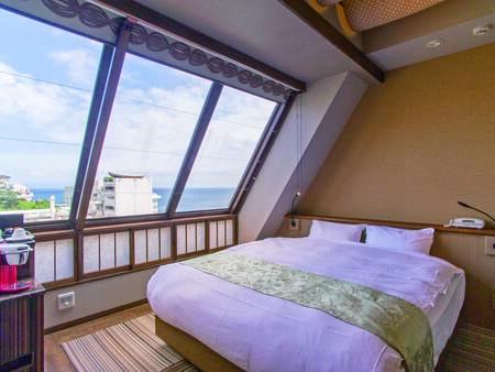 【客室/例】シングルタイプのセミダブルベッド客室をご用意