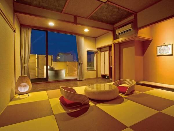 【露天風呂付き客室/例】アジアン和室タイプやベッドの客室も※宿お任せ