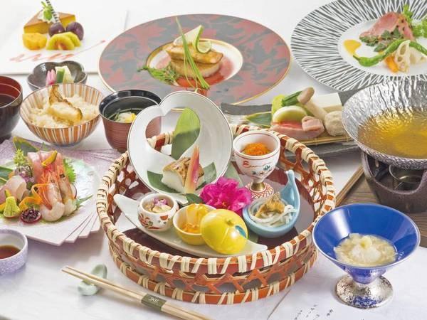【夕食/例】季節の山海の幸を盛り込んだディナーは日替わりでご提供