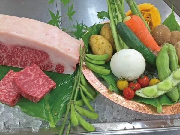 【夕食/例】料理長が厳選した旬味溢れる食材一例