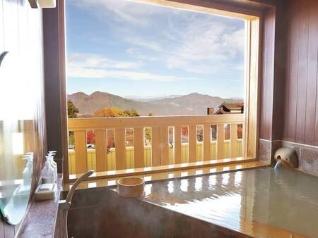 【客室半露天/例】シャッターの開閉で外が眺められる造りになっている