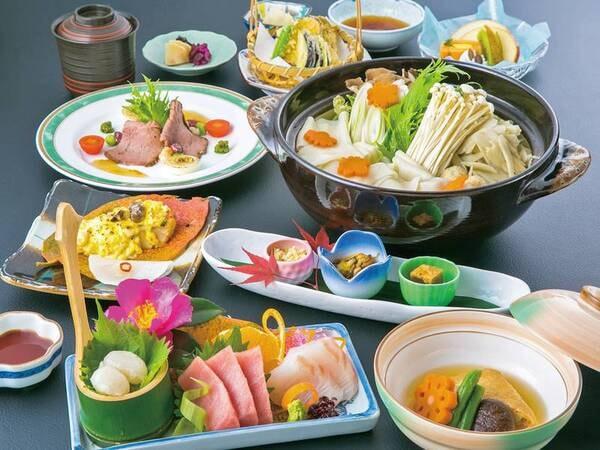 【夕食/料理一例】料理長ごだわりの和会席を満喫