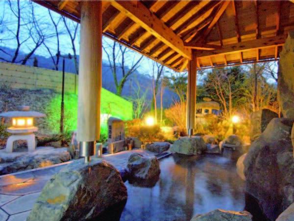 【大浴場/露天】竹炭を入れたアルカリイオン泉の湯が楽しめる※温泉ではありません