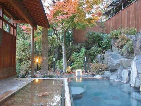 【露天/山里の湯】ひっそりとした山里情緒の中、ゆったりと温泉で温まる
