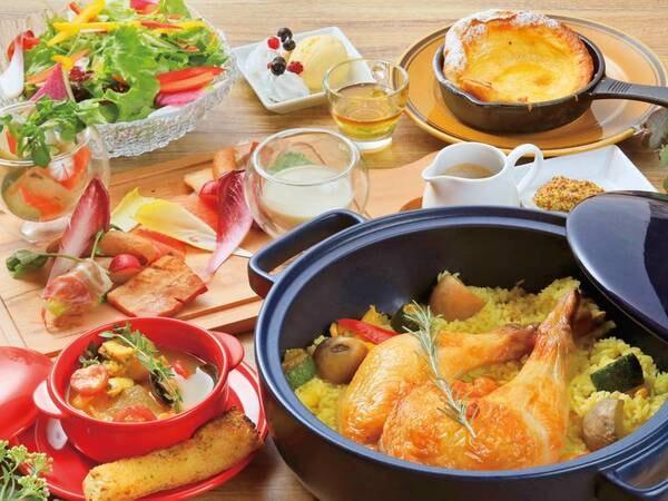 【夕食例】提携「ゆとりろガーデン北軽井沢」レストランでのお食事