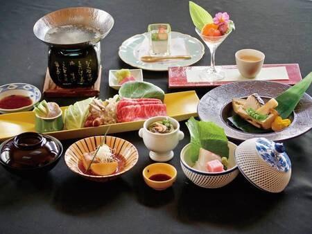【夕食/例】旬の山の幸を使用した季節替わりの創作料理会席