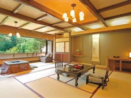 谷川岳望む源泉かけ流し露天風呂付客室/一例