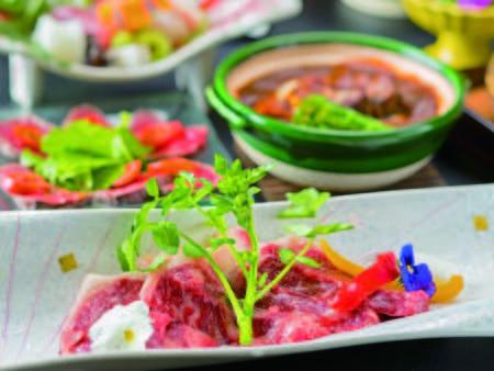 【上州牛/例】群馬ブランドの赤城牛を和食にアレンジした内容にグレードアップ