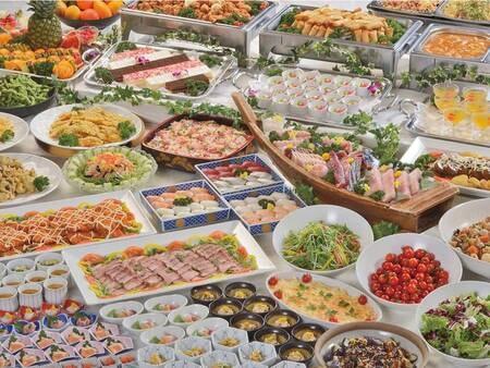 【ドリンク/例】夕食は和洋中バイキング&生ビール含む70分飲み放題付!