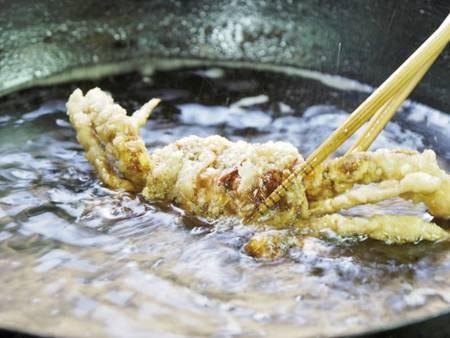 【上州牛付創作会席/例】莞山名物『渡り蟹の姿揚げ』