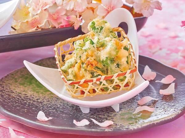 バイキング 3月~5月春の料理フェア「菜の花と桜えび・新玉のかき揚げ」/例