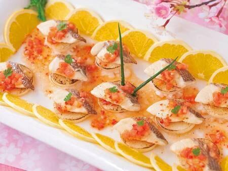 バイキング 3月~5月春の料理フェア「鯛のコンフィ イタリアンソース」/例