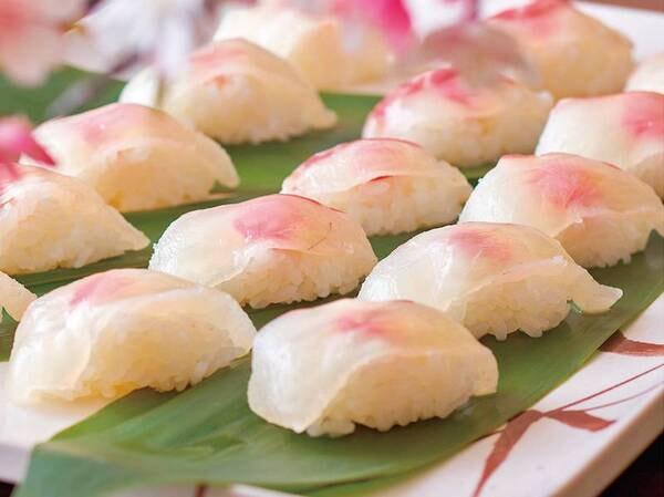 バイキング 3月~5月春の料理フェア「鯛の握り寿司」/例