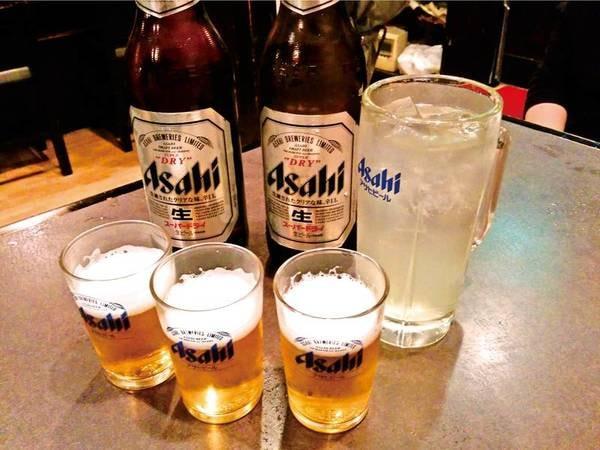 【飲み放題/例】夕食時60分飲み放題付(瓶ビール、焼酎、お酒)