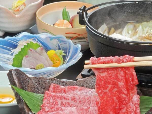 【伊賀牛すき焼き風御膳/例】上質な伊賀牛のすき焼きの他に、小鉢等がついた御膳です!