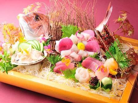 【夕食/例】伊勢海老(2名1尾相当)・あわび・地魚の盛り合わせなど全10品程