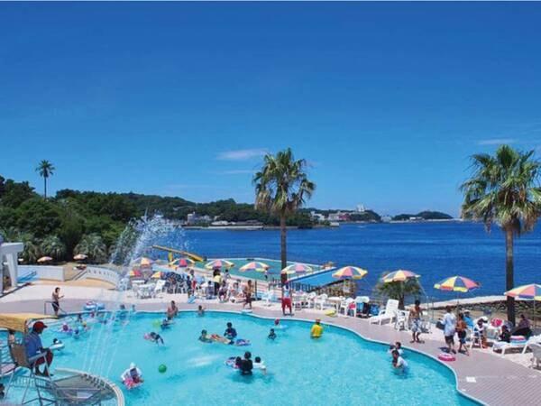 【プール(夏季限定)】淡水プール・海水プールの2つのプールを完備
