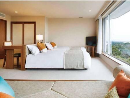 デラックスルーム/例 開放的で落ち着きのある客室