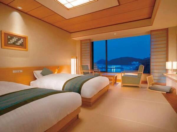 【和モダンツイン/例】和の落ち着きと洋の快適性を兼ね備えた上質なデザインの新しいお部屋です