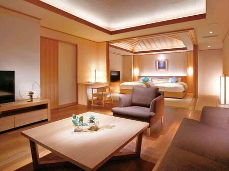 「プレミアムスイート84㎡」露天風呂付き客室/例