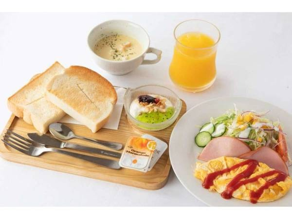 【シンプルスティ】朝食付きプラン洋定食セット/一例