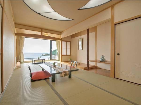 海側/別館展望風呂付客室(10~12畳+広縁)/例。一間タイプ※一間、二間の指定不可