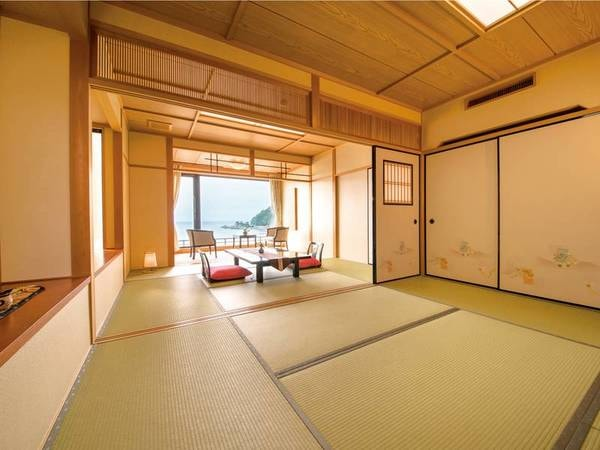 海側/別館展望風呂付客室(10~12畳+広縁)/例。ニ間タイプ※一間、二間の指定不可