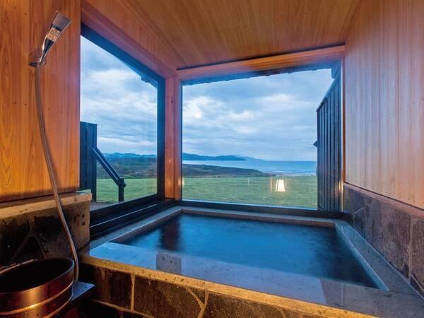 【オーシャンフロント】温泉露天付和室の客室風呂一例