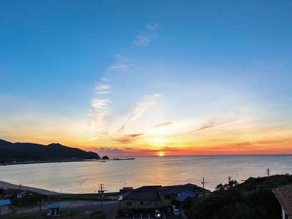 屋上眺望 美しい日本海を一望