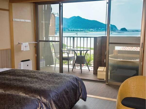 【洋室/例】温泉を満喫できる露天風呂付き客室