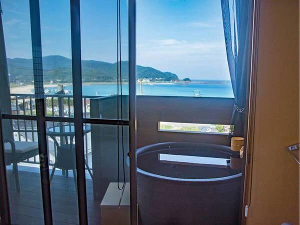 【客室露天風呂/例】温泉を満喫できる露天風呂付き客室