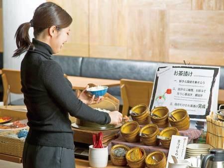 【朝食付きプラン】お茶漬けコーナー(西利の京漬物「すぐき」や「しば漬け」など9種類のお茶漬け)