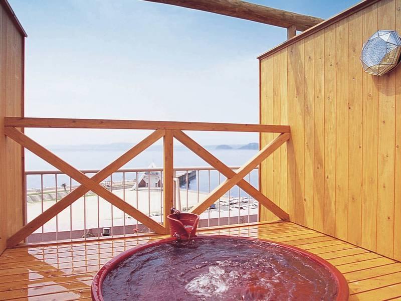 【貸切風呂/例】屋上露天風呂は信楽焼き