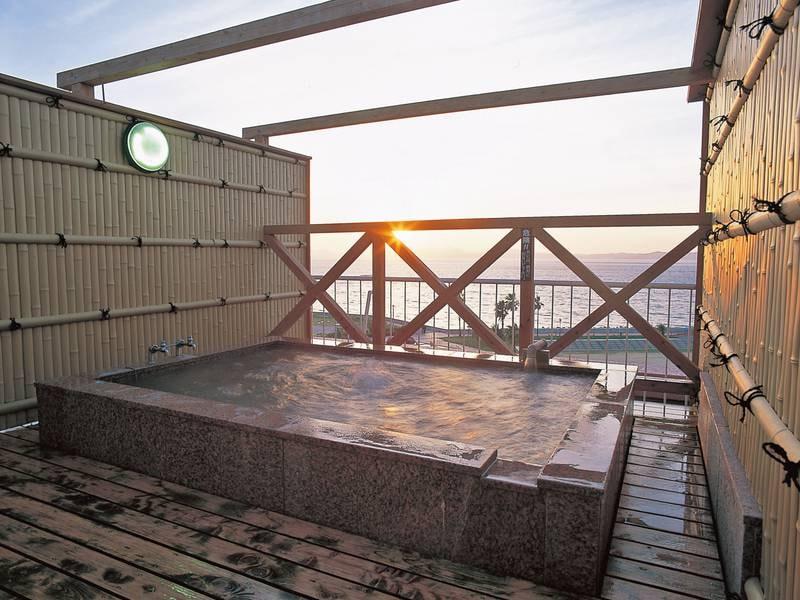 【貸切風呂/例】夕陽を眺めることができる