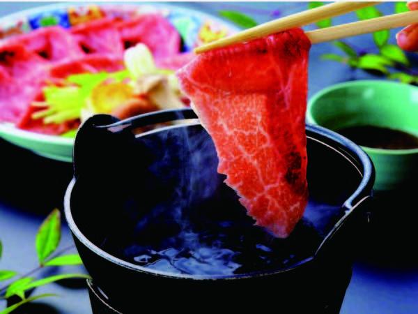 【夕食/例】どっさり桶盛りに和牛しゃぶしゃぶがついたプラン