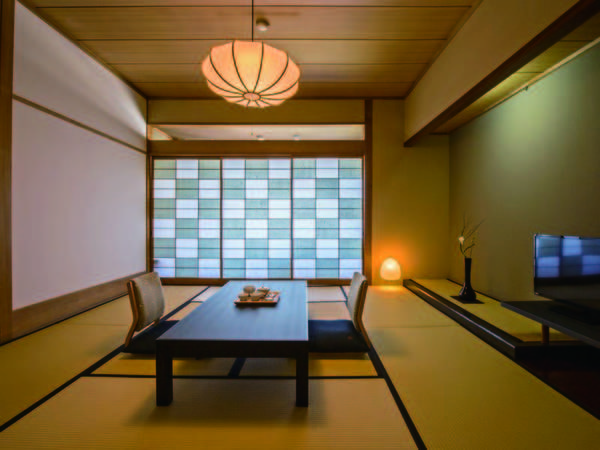 【本館湖側客室/例】レトロモダンな雰囲気の空間